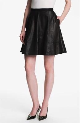Miss Wu  Leather Circle Skirt