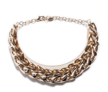 Zara  Gold Plated Maxi Chain Necklace