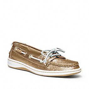 Coach Richelle Glitter Boat Shoes