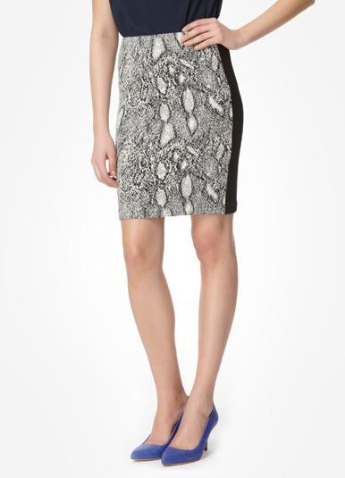 Rebecca Taylor Python Pencil Skirt
