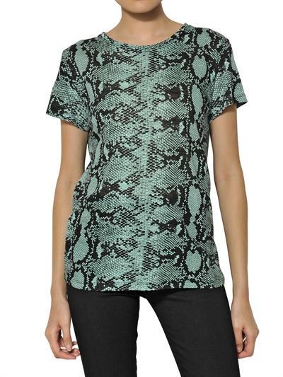 Proenza Schouler Printed Python Cotton Jersey T-Shirt