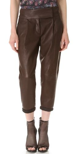 Theory Kina Leather Pants