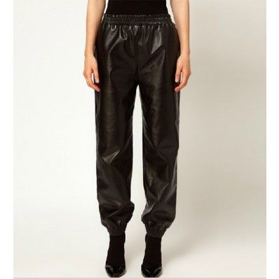 May Kool Loose Pu Leather Pants