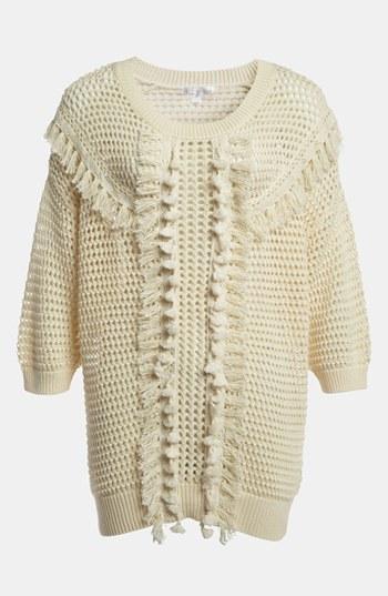 Leith Crochet Trim Pullover