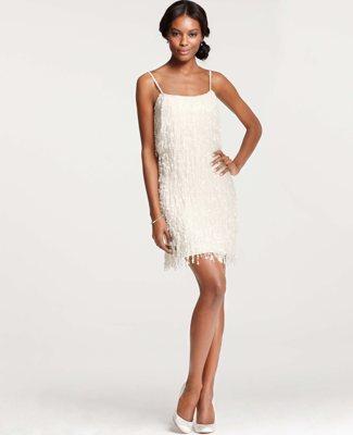 Ann Taylor Sequin Fringe Dress
