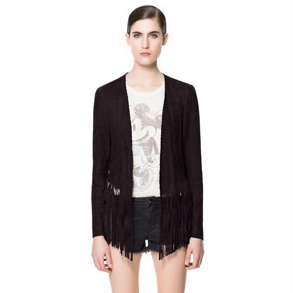 Zara Fringed Suede Jacket