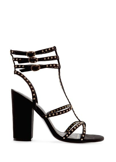 Mango Touch  Studded Straps Sandals