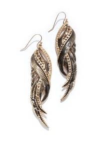 Rachel Rachel Roy  Feather Earrings