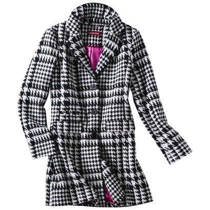 Merona Classic Long Wool Houndstooth Coat