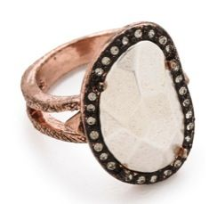 House of Harlow 1960 House of Harlow 1960 Vertical Sahara Sand Ring
