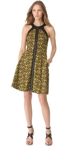 Robert Rodriguez  Filigree Print Dress