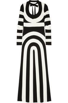 Marc Jacobs Striped Scuba-Jersey Maxi Dress