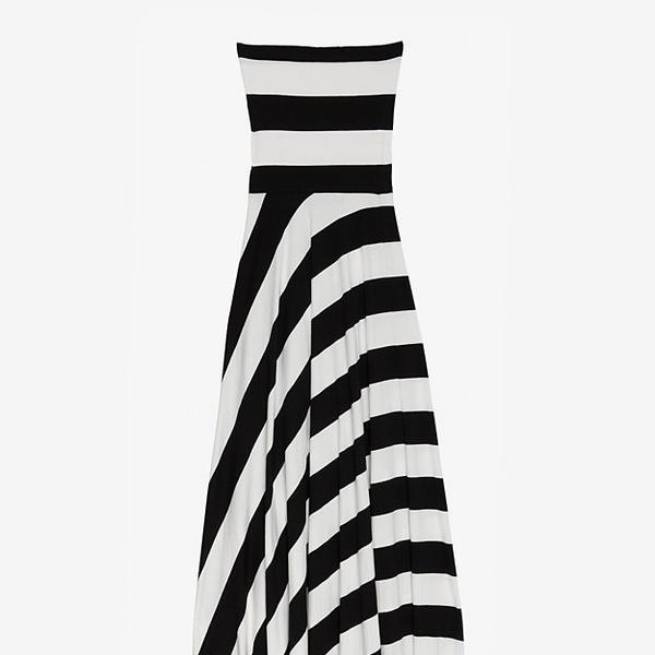 Nadia Tarr Striped Jersey Dress