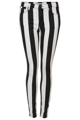 Topshop Moto Stripe Leigh Jeans