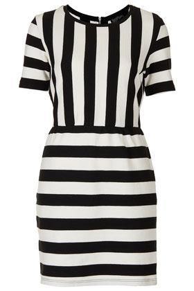 Topshop Texture Stripe Shift Dress