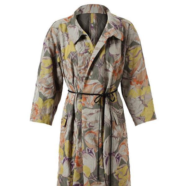 Dries van Noten  Floral Printed Silk-Cotton Robe