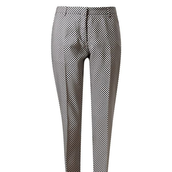 Dries van Noten  Micro-Checked Silk Trousers