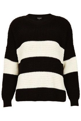 Topshop Knitted Bold Strip Jumper