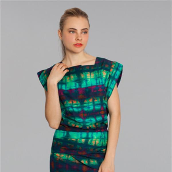 Marissa Webb Delphine Watermark Plaid Swirl Skirt