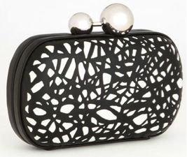 Diane von Furstenberg  Sphere Laser Cut Leather Clutch