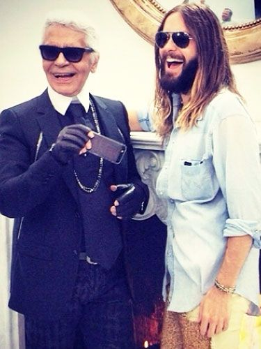 Leto Hangs With Lagerfeld, And The Week's Best Celebrity Instagrams
