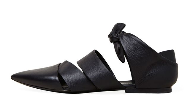 Proenza Schouler Leather Straps Flats