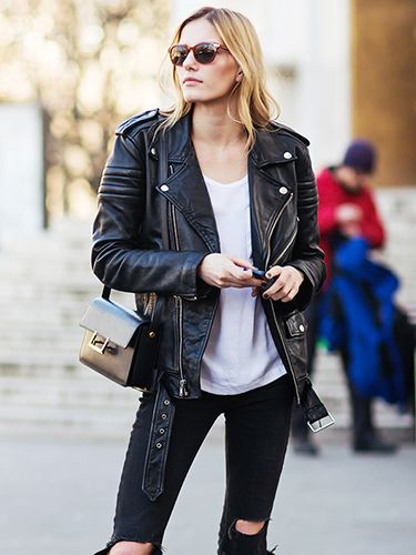 How To Wear A Leather Jacket For Every Occasion Who What Wear