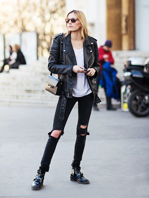 fabulous ladies biker jacket outfits 13