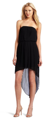 BCBGeneration Pleated High-Low Dress