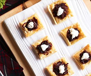 Carmelized Onion and Goat Cheese Tartlets