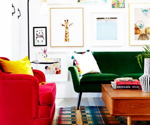 Before and After: The Colourful Office of Oh Joy!
