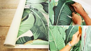 Video: How to Hang Wallpaper (Starring the Iconic Banana Leaf Pattern)