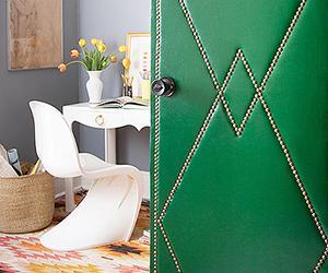 A Genius Upholstered Door DIY