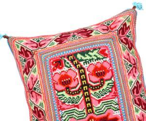 A Mexi-Mod Needlepoint Pillow