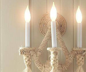 Tied-and-True: Rope Sconce