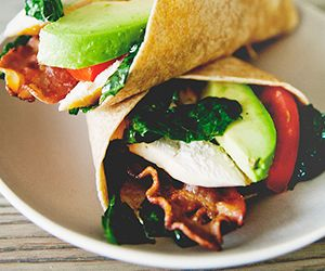Simple Chicken and Kale Club Wraps