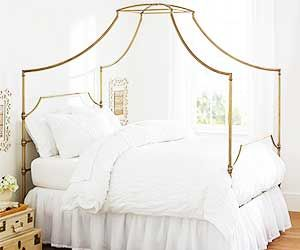 A Gold Canopy Bed That's Surprisingly Affordable