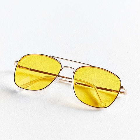 Far Out Translucent Metal Aviator Sunglasses
