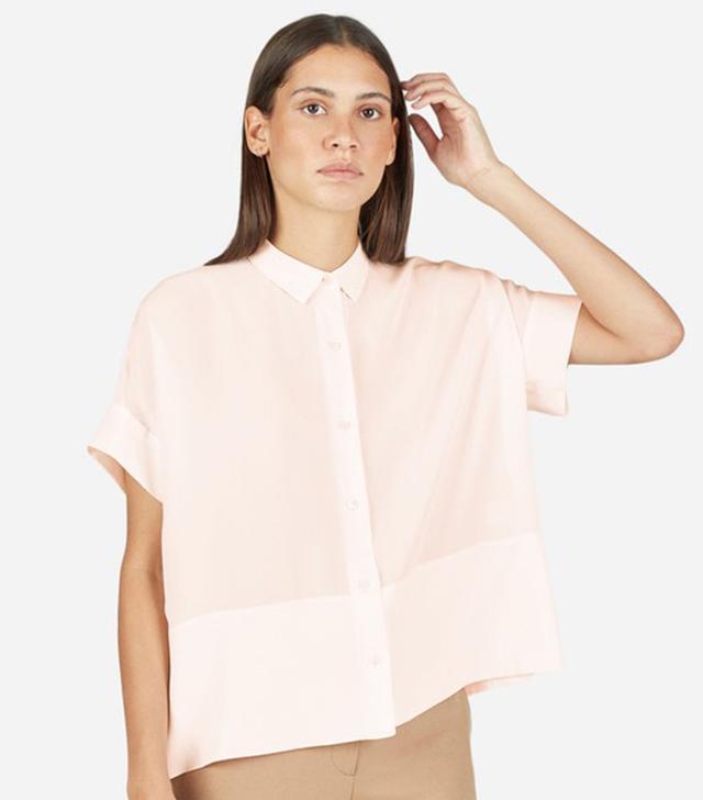 square silk shirt
