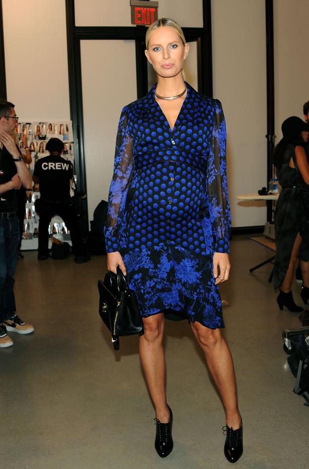 WHO: Karolina Kurkova  WHAT: Diane von Furstenberg S/S 16 show  WEAR: Diane von Furstenberg Catherine Printed Dress ($598) and Secret Agent Bag ($498).