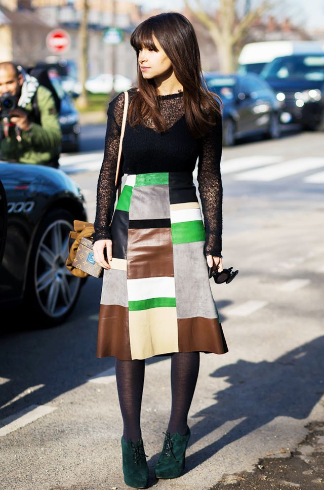 If you're looking to invest in a statement skirt, we think you should make it a patchwork one like Miroslava Duma's.