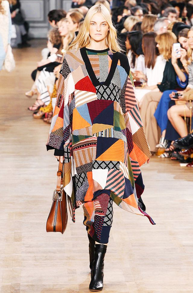 Chloéperfected patchwork with this stunning poncho.