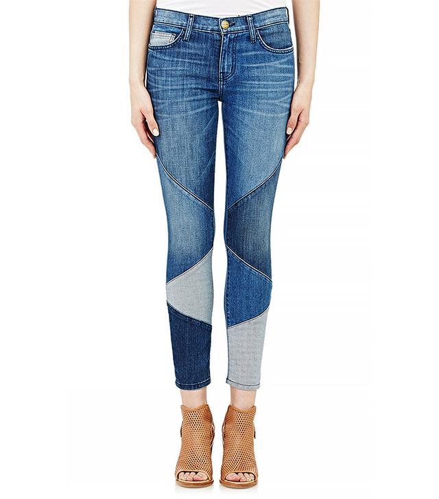 Current/Elliott The Stiletto Patchwork Skinny Jeans