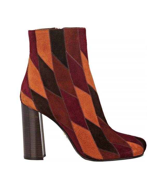 Prada Suede Patchwork Ankle Boots