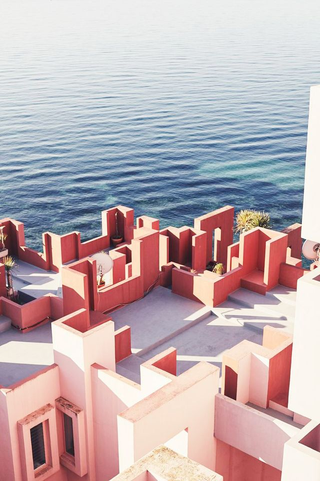 Captured with stunning grace and reverence of form by photographer Nacho Alegre, the home of Spanish architect Ricardo Bofill is a feast for color aficionados and design lovers.