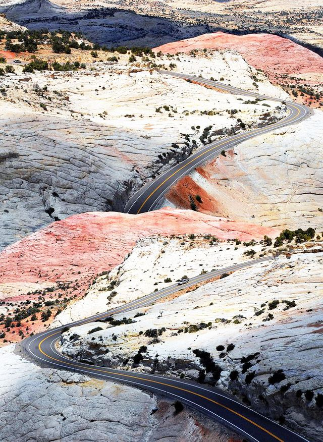 Designer Julia Kostreva saved this image of the sunset-hued earth along Highway 12 in Escalante, Utah. Take us there.
