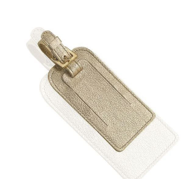 Papier DÁmour Goatskin Leather Luggage Tag