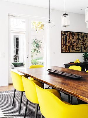 Tour a Super Chic Black-and-Yellow Space