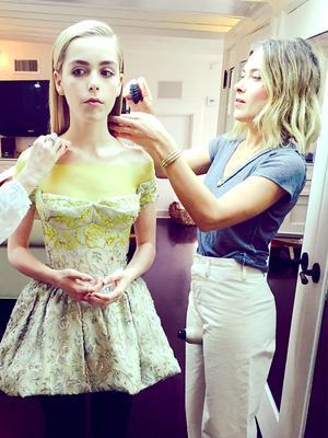 Exclusive: Kiernan Shipka's Hairstylist Shares Her Emmys Diary