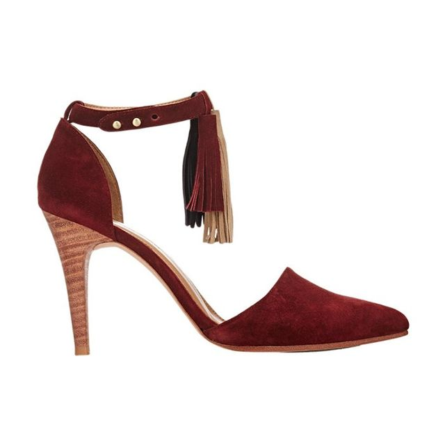 Barneys New York Tassel Kiki Ankle-Strap Pumps
